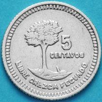 Гватемала 5 сентаво 1949 год. Серебро.