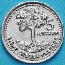 Гватемала 5 сентаво 1978-2000 год.