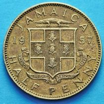 Ямайка 1/2 пенни 1957 год.