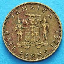 Ямайка 1/2 пенни 1965 год.