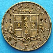 Ямайка 1 пенни 1953-1963 год.Елизавета II.