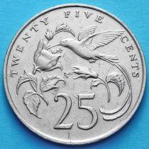 Ямайка 25 центов 1986 год.