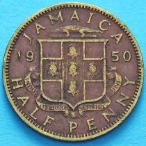 Ямайка 1/2 пенни 1950 год.