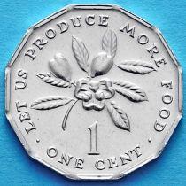 Лот 10 монет. Ямайка 1 цент 1990 год. ФАО.