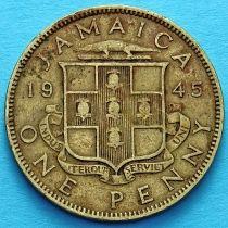Ямайка 1 пенни 1945 год. Георг VI.