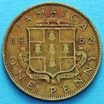 Ямайка 1 пенни 1952 год. Георг VI.