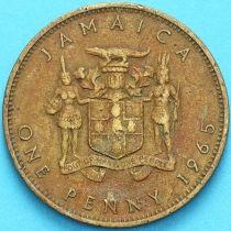 Ямайка 1 пенни 1965 год.