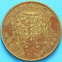 Ямайка 1 пенни 1967 год.Елизавета II.