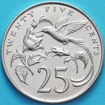 Ямайка 25 центов 1987 год.