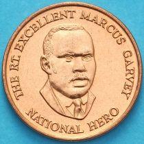 Ямайка 25 центов 1996 год.