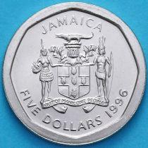 Ямайка 5 долларов1996 год.