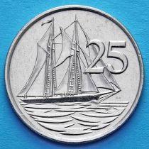 Каймановы о-ва 25 центов 1990 год