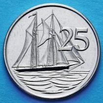 Каймановы о-ва 25 центов 2002-2008 год