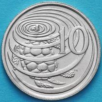 Каймановы острова 10 центов 1987 год.
