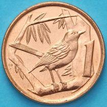 Каймановы острова 1 цент 2008 год. Дрозд.