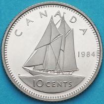 Канада 10 центов 1984 год. Пруф.