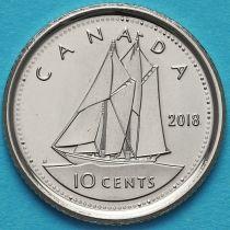 Канада 10 центов 2018 год.