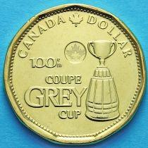Канада 1 доллар 2012 год. Кубок Грея.