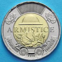 Канада 2 доллара 2018 год. Окончание Первой Мировой войны.