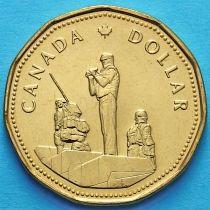 Канада 1 доллар 1995 год. Памятник миротворческим силам.