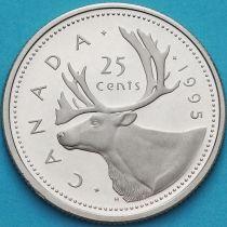 Канада 25 центов 1995 год. Пруф.