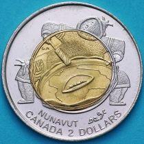 Канада 2 доллара 1999 год. Основание Нунавута