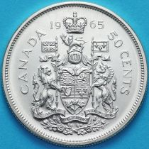 Канада 50 центов 1965 год. Серебро.