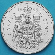 Канада 50 центов 1995 год. Пруф.