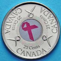 Канада 25 центов 2006 год. Розовая лента.