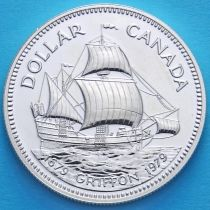 Канада 1 доллар 1979 год. Парусник Грифон. Серебро.