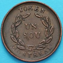 Канада Нижняя, 1 су (1/2 пенни) 1837-1838 год. Токен Монреаль.