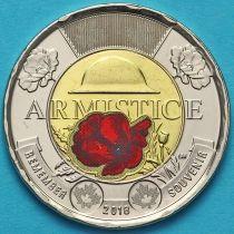 Канада 2 доллара 2018 год. Цветная. Первая Мировая.