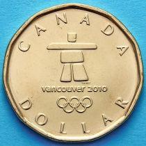 Канада 1 доллар 2010 год. Олимпиада 2010