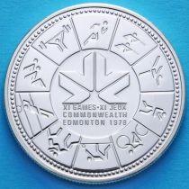 Канада 1 доллар 1978 год. XI игры содружества в Эдмонтоне. Серебро.