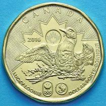 Канада 1 доллар 2016 год. Олимпиада Рио-Де-Жанейро 2016.