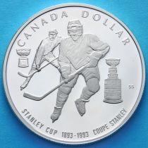 Канада 1 доллар 1993 год. Кубок Стенли. Серебро. Пруф.
