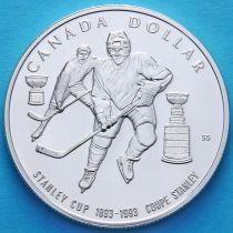 Канада 1 доллар 1993 год. Кубок Стенли. Серебро
