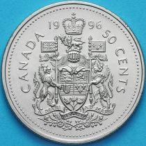Канада 50 центов 1996 год. Королевский герб Канады.