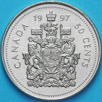 Канада 50 центов 1997 год. Королевский герб Канады.
