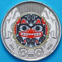Канада 2 доллара 2020 год. Цветная. Билл Рид.