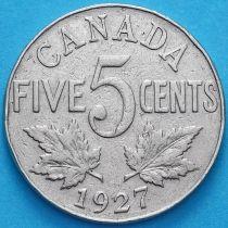 Канада 5 центов 1927 год.