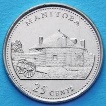 Канада 25 центов 1992 год. Манитоба.