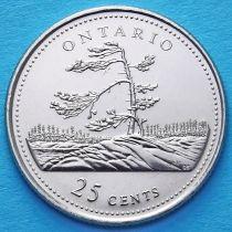 Канада 25 центов 1992 год. Онтарио.
