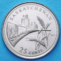 Канада 25 центов 1992 год. Саскачеван.