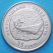 Канада 25 центов 1992 год. Ньюфаундленд и Лабрадор.