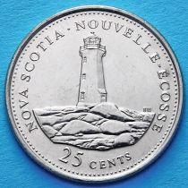 Канада 25 центов 1992 год. Новая Шотландия.