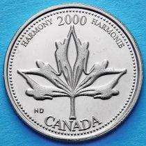 Канада 25 центов 2000 год. Миллениум. Гармония.