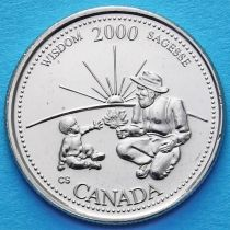 Канада 25 центов 2000 год. Миллениум. Мудрость.