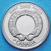 Канада 25 центов 2000 год. Миллениум. Семья.