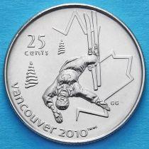 Канада 25 центов 2008 год. Фристайл.